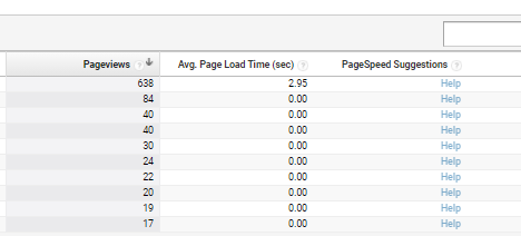 page load timing